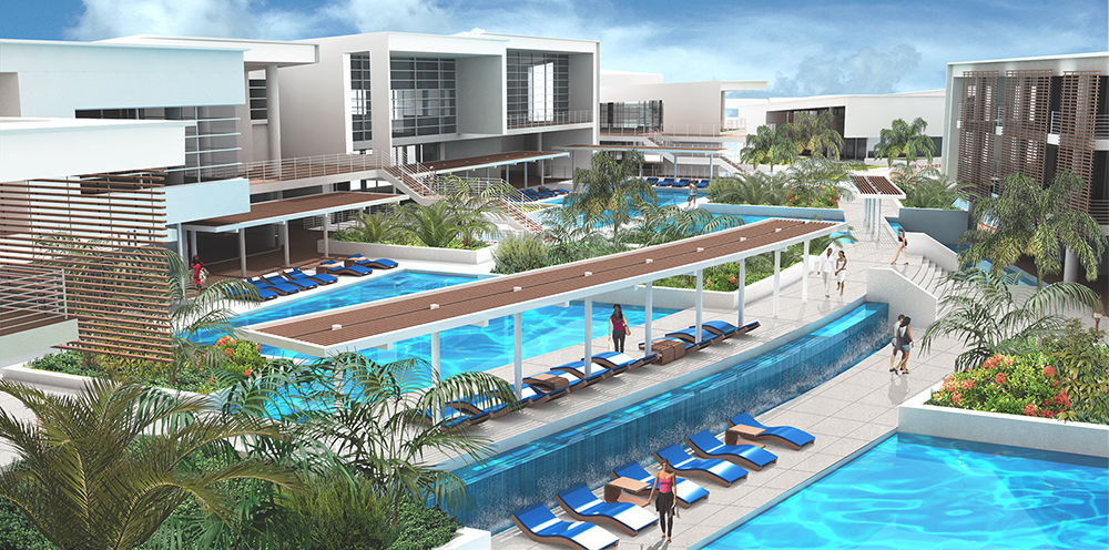 Haven key resort hotel and wellness center nicholas respecki for Average square footage of a pool